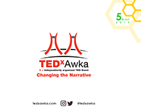 TEDxAwka Brochure Design