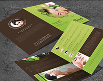 Bifold Beauty Brochure Template- VOL-12