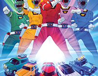 Power Rangers Turbo Tribute Illustration