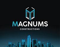 MAGNUMS Constructions LOGO Design Presentation