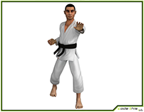 3D Model: Karate Fighter CG