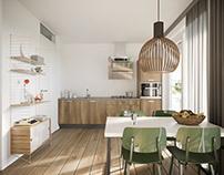 Apartment BLOCK030 Interior and exterior design, 2D 3D