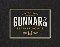 Gunnar Leather Goods Identity