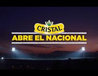 CRISTAL ABRE EL NACIONAL