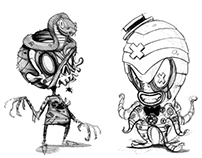 Character Design Sketches (Horror)