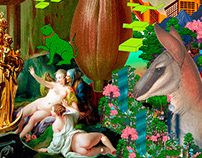 Delirio místico. Digital collage