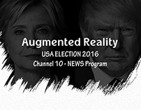 Augmented Reality - News Studio for US Election 2016