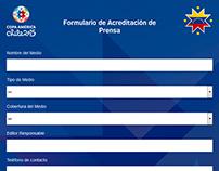 Copa América - Formulario Acreditación