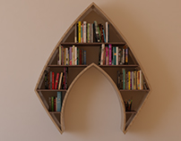 Aquaman logo, shelf, interrior, design, bookshelf