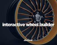 Interactive wheel builder