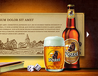 Kozel Beer Promo Website Draft