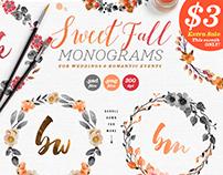 8 Sweet Fall Wedding Monograms X