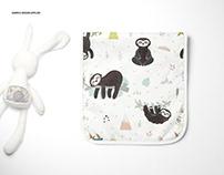 Minky Burp Cloth Mockup Set