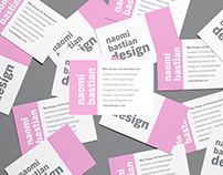 Personal Typography Business Card