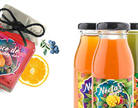 Label design Nectars, jams and liqueurs