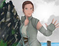 Rey-The Force Awakens-FanArt
