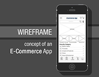 Wireframe design of an E-Commerce Mobile App