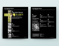 New York Times Contents Redesign