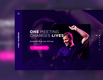 Landing page for Tony Robbins