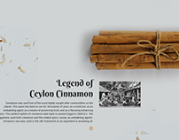 Legend of Ceylon Cinnamon_Web Design
