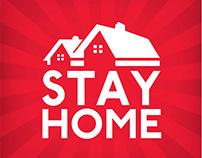 Stay Home Coronavirus prevention banner