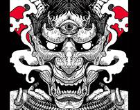 japanese demon skateboard