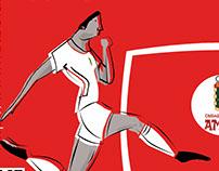 Cartelería sección de fútbol C.D. Amaya