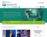 Microsoft Accelerate India Microsite