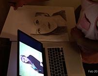Portrait Sketch using dark shade pencil.