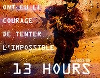 "Affiche ""13 Hours"""
