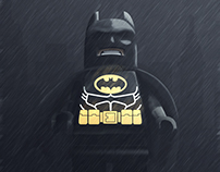 Batman 3D sketch rendering