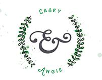 Casey & Angie :: Wedding Invitations + Map