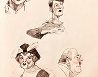 Movie Pencil Sketches