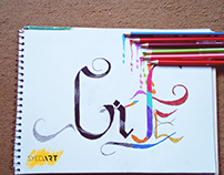 Life is Art Calligraphy Drawing | Powered by #SyedArt