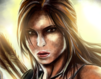 Young Lara Croft - SpeedPaint Fanart