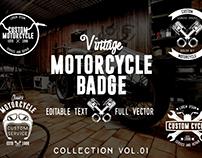 Vintage Motorcycle Badge Vol.01