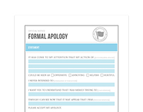 Official Apology Form