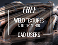 FREE - Weld textures and tutorial for CAD users