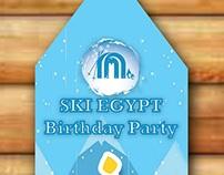 Ski Egypt Birthday hanger design