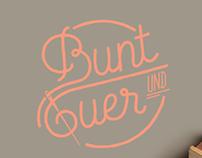 Bunt und Quer / Branding