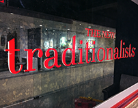 Sign painting for The New Traditionalists showroom, NYC