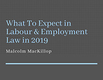 What To Expect In Employment Law In 2019