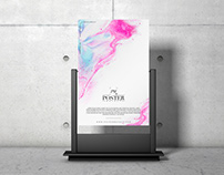 Advertising Stand PSD Poster Mockup Free