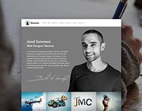 Resume WordPress Theme - CV Site Builder