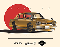 Nissan Skyline GT-R Hakosuka - Illustrations