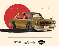 Nissan Skyline GT-R Hakosuka - Illustrations