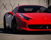 Ferrari 458 Italia Scene in Unreal Engine 4