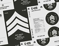 Sgt. Sam's Baked Potato Chips, Identity & Packaging
