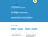 Mass Clean Electricity Website Design