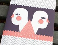 «FANTASMAS» ilustración de portada y diseño